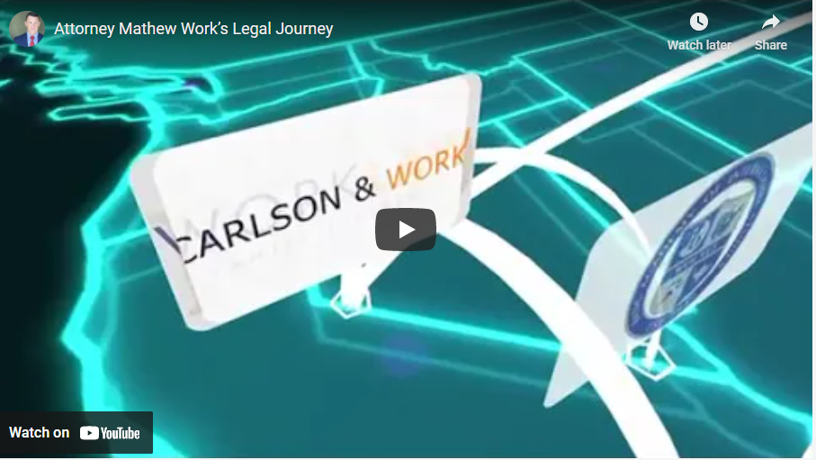 Attorney Mathew Work's Legal Journey